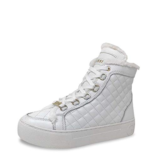 Sneakers Flmee4 Lea12 Femmes Guess Blanc wkOn0P