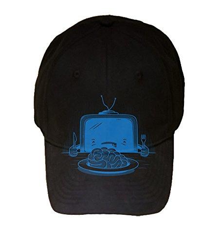 Man Eater Shark Hat (100% Black Cotton Adjustable Hat -