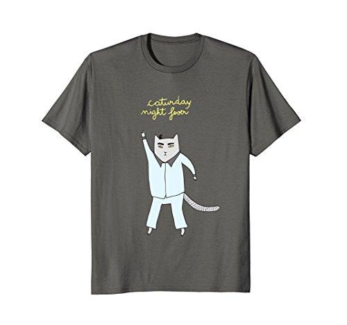 Caturday Night Fever Cat Disco T-Shirt]()