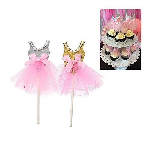 Bailarina Cupcake Cake Toppers decoración para tartas ...