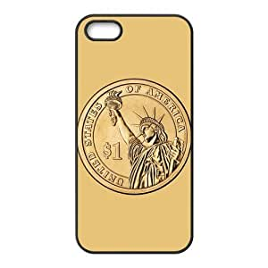 Cutomize Statue of Liberty Scratch-Resistant Case Soft TPU Skin for iphone 4/4s Cover - Black/White