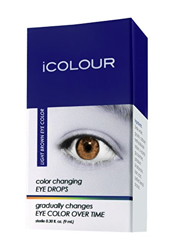 iCOLOUR Color Changing Eye Drops - Change Your Eye Color Naturally - 1 Month Supply - 9 mL (Light Brown)