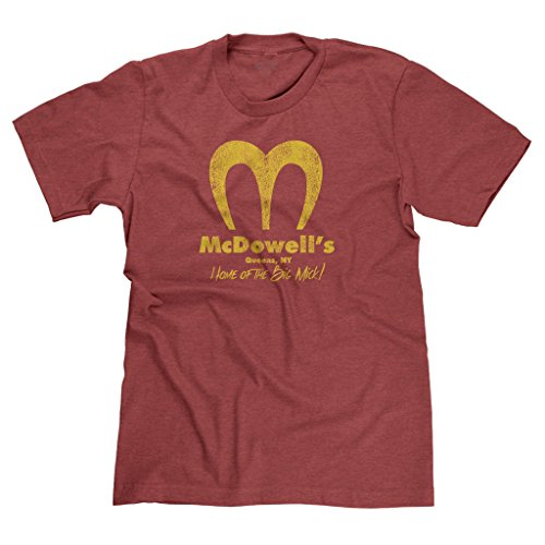 FreshRags McDowell's Restaurant Coming to America Parody Men's T-shirt XL Htr. Red 397