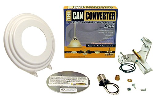 Light Recessed Beveled Canopy Converter R56-RMB-WHT Conversion Kit for 5