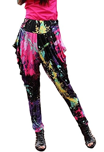 AvaCostume Womens Stretch Graffiti Tie dye