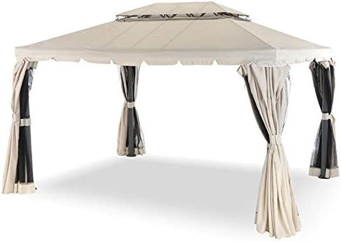 Cenador 3 x 3 metros rectangular completo de cortinas laterales y ...