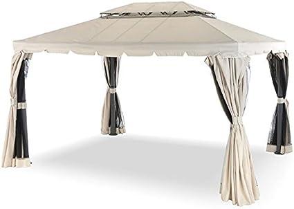 Cenador 3 x 3 metros rectangular completo de cortinas laterales y mosquiteras: Amazon.es: Hogar