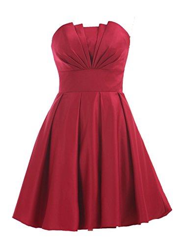 Pleated Satin Top Dress - 8