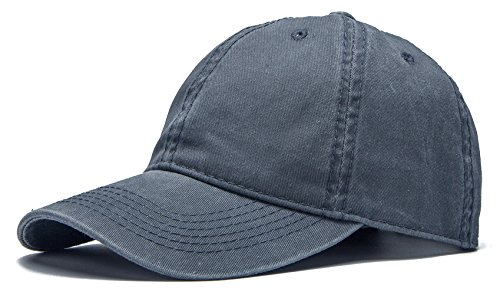 Edoneery Adjustable Washed Twill Low Profile Cotton Baseball Cap Hat(Dark Gray)