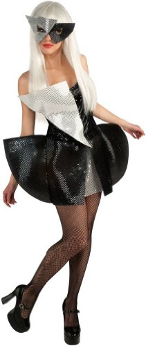 Lady Gaga Black Sequin Dress Teen Costume, Small]()