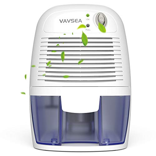 VAVSEA Electric Dehumidifiers for Home, Compact 500ml (17 oz) Capacity, Portable Mini Dehumidifier Quiet Use for High Humidity in Bathroom, Bedroom, Basements, Kitchen, Wardrobe Closet, Office, RV