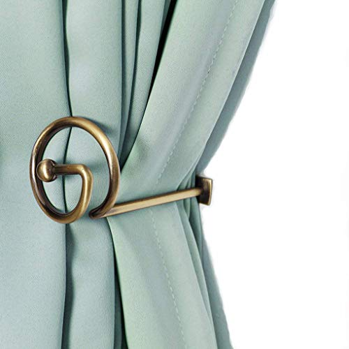 Brass Holdbacks (Curtain Holdbacks Window Decorative Hook Draperies Metal Set of 2 Bronze)