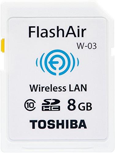 Toshiba wireless LAN-enabled SDHC memory card FlashAir 8GB Class10 SD-WE008G