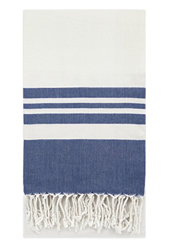 Supreme Zebra Print Rug (Eshma Mardini Peshtemal Turkish Bamboo Towel Beach Pool Cover Up Picnic Bath Spa Sauna - ( Navy Blue ))