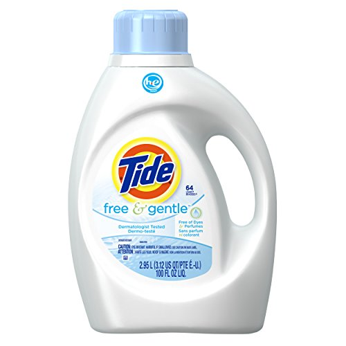 Tide 037000474760 2x Concentrate Ultra Free and Gentle Liquid Laundry Detergent for High Efficiency Machines, 100 Fl Oz, kkkk ()