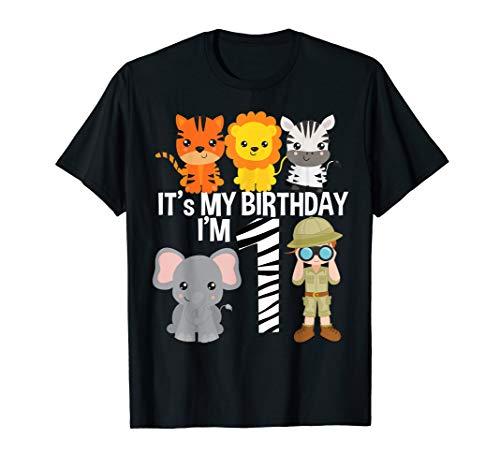 It's my birthday Safari Zoo Animals 1st Birthday Boy -
