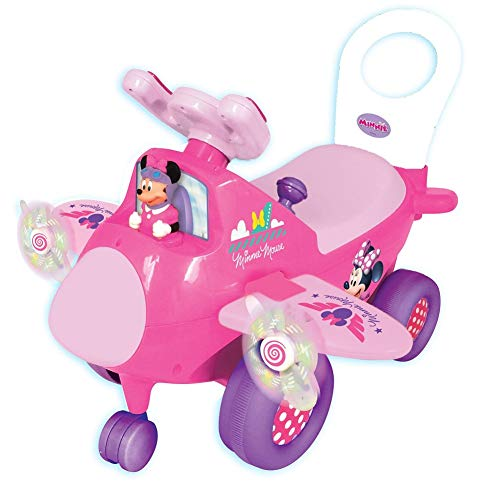 Kiddieland Disney Minnie Mouse Light and Sound Airplane Ride-On]()