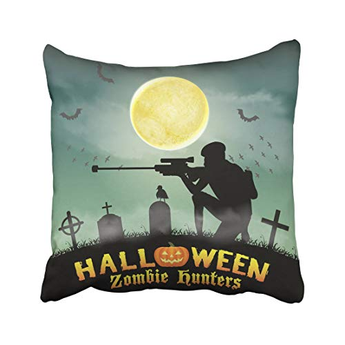 Emvency Cemetery Halloween Zombie Hunter with Sniper in