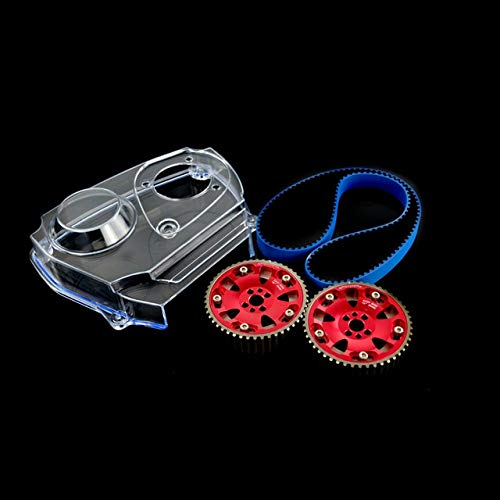 - DishyKooker HNBR Racing Timing Belt + Aluminum Cam Gear + Clear Cam Cover for Nissan Skyline R32 R33 GTS RB25DET Show