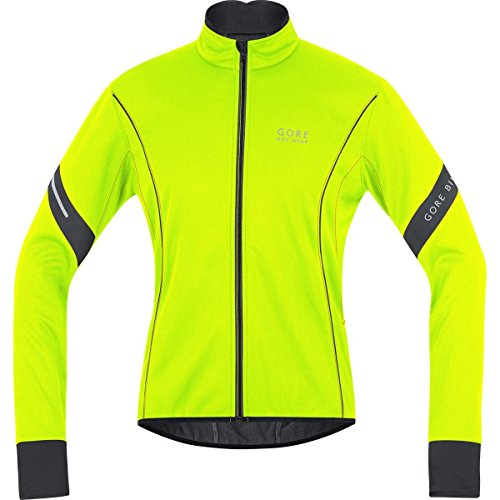 GORE BIKE WEAR, Men´s, Road cyclist jacket, Fleeced, GORE WINDSTOPPER Soft Shell, POWER 2.0, Size S, Neon Yellow/Black, JWMPOW