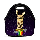 RODONO Animal Theme Funny Funky Llama Lunch Bag Tote Bag Lunch Organizer Lunch Holder Lunch Container