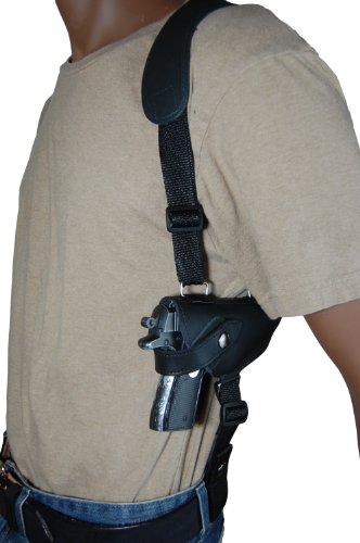Barsony New Black Leather Shoulder Holster for Walther PP PPK PPKS Right