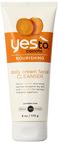 Carrot Nature (Yes To Carrots Daily Cream Facial Cleanser, 6 Fluid Ounce)