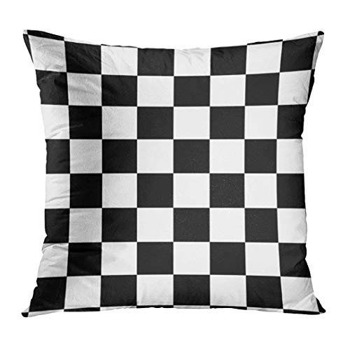 Emvency Throw Pillow Cover Race Classic Checkered I Bleed Racing Check Black Flag Decorative Pillow Case Home Decor Square 18 x 18 Inch Pillowcase