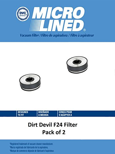 DVC Micro-Lined DVC Created Dirt Devil F24 HEPA Media Replacement Filter Set Pack of 2 by DVC Micro-Lined