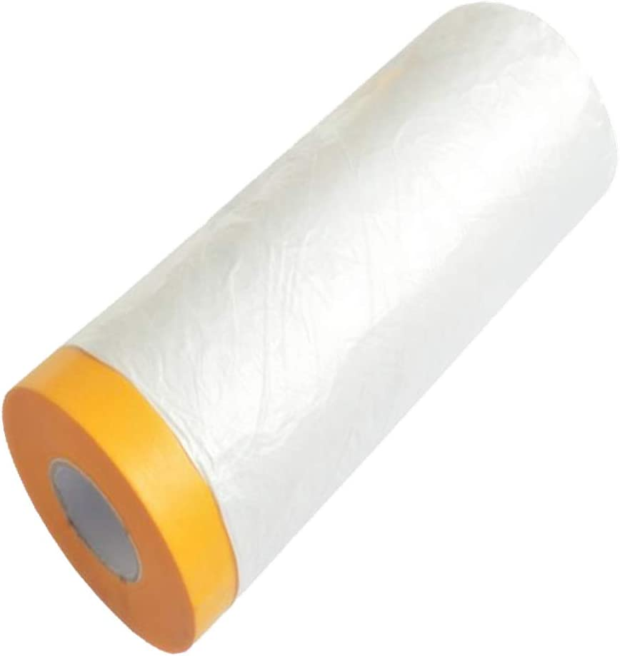 ACONDE Polyethylene Dust Sheet Roll, Drop Sheet Pack, 2.4m x 15m Dust-Proof & Waterproof Disposable Shields for Painting, Decorating, Furniture Covering