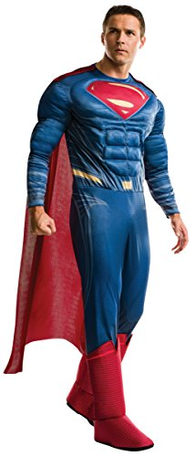 Rubie's Men's Batman v Superman: Dawn of Justice Deluxe Superman Costume, Multi, One Size
