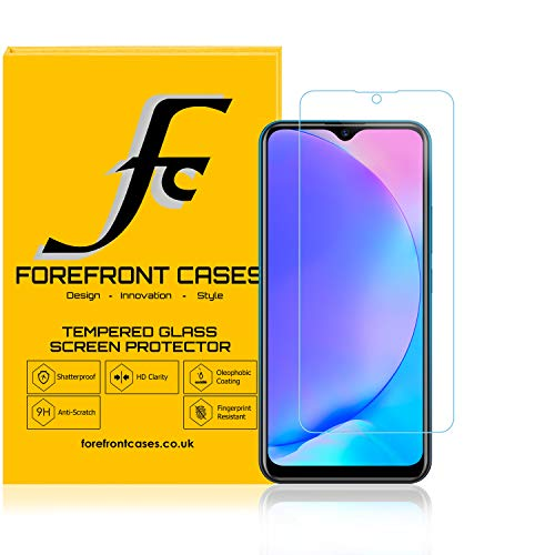Forefront Cases Tempered Glass Screen Protector for Vivo Y17 [2 Pack] | Guard Film Cover | Shock, Fingerprint & 9H Scratch Resistant | Crystal Clear HD Clarity Ultra-Thin 0.3mm & High-Response