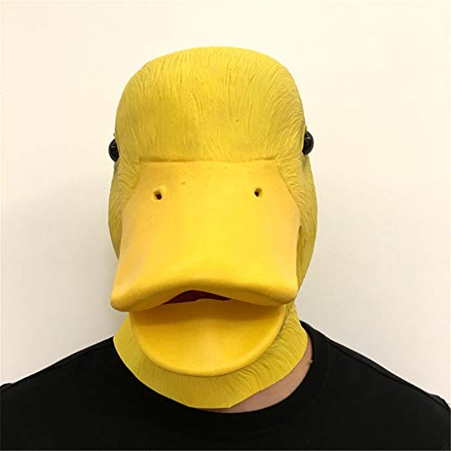 QIAO Halloween Props Duck Animal Mask Cosplay Party Tidy Latex Props Fancy Dress Headgear (Color : A) -