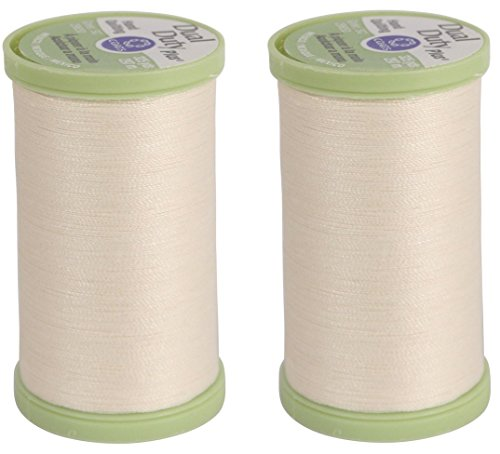 (2 Pack) Coats Dual Duty Plus NATURAL Hand Quilting Thread Strong all purpose with glace (glazed) finish (2 Pack, Natural) ()