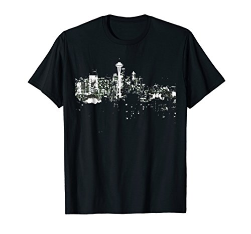 Seattle Skyline At Night Shirt Space Needle Tourist