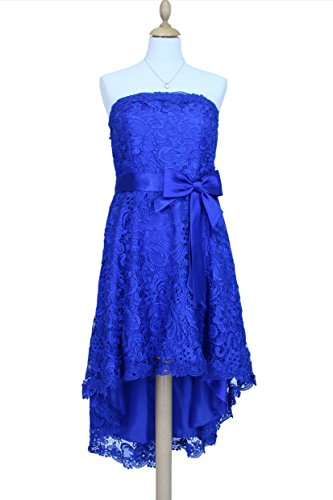 Gr mit Stola 34 Partykleid Elegantes 56 und Träger 2603 Vokuhila blau Kleid wIzwqXp6
