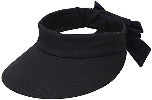 Lullaby Womens Sun Hat UV Protective Wide Brim UPF 50+ Sun Visor Hat Black