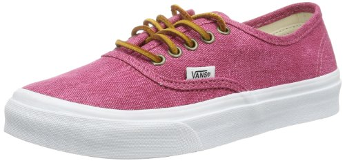 Vans U AUTHENTIC SLIM (WASHED CANVAS) VQEVC7U Unisex-Erwachsene Sneaker Rot ((Washed Canvas))