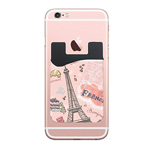 0a8d7343847d Cell Phone Wallet, Stick on Wallet for Credit Card, Business Card &  Id-Napkin Eiffel Tower