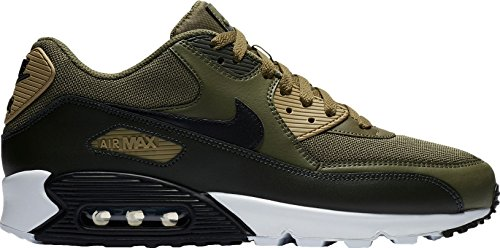 Nike Air Max Goadome - NIKE Mens Air Max 90 Essential Running Shoes Medium Olive/Black/Sequoia AJ1285-201 Size 11