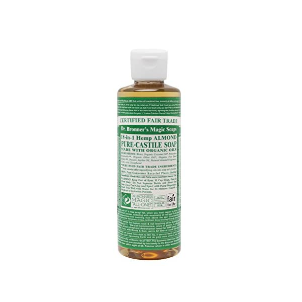 Dr. Bronner's Organic Almond Pure-Castile Liquid Soap, 237 ml