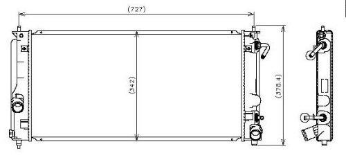 Denso 221-3113 Radiator