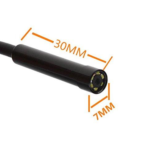 port/átil etc tel/éfono POIUDE Webcam Cable de 7 mm de la Lente del Impermeable IP67 endoscopio Ajustable 6 LED Tubo,para Android PC