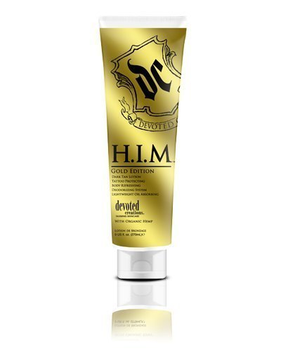 Devoted Creations H.i.m. Gold Edition Lightweight Oil Absorbing Dark Tan Lotion Him 9 oz by Devoted Creations