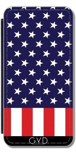 Leder Flip Case Tasche Hülle für Apple Iphone 7 Plus / 8 Plus - Amerikanische Flagge by loki1982