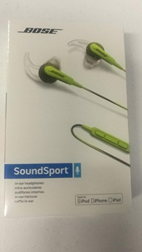 Brand New/Sealed Bose SoundSport in-ear headphones - Apple devices, Energy Green Color, 741776-0030