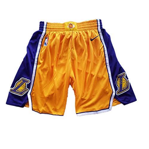 Marcleblanc Men's Los Angeles Statement Swingman Basketball Shorts (Yellow, S) -