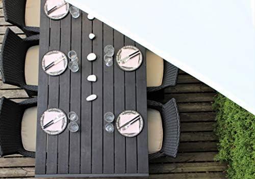 Solennoire, Vela De Sombra | Toldo Suspendido Impermeable | Lona 100% Poliéster | Sombreado 98% - Protección UV 99% | Cuerdas de Fijación & Anillos de Acero Inoxidable | Color Beige (4x4m, Beige): Amazon.es: Jardín