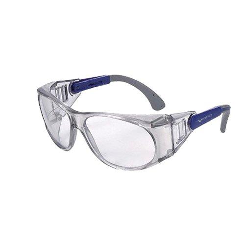 Univet 539.00.01.00 Schutzbrille'Nr.539' mit klarem Glas in blau/grau