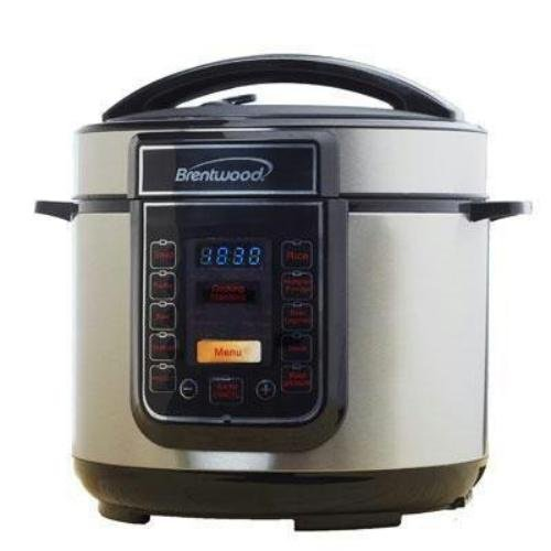 Brentwood Epc-526 Cooker - 1.25 Gal - Black, Stainless Steel